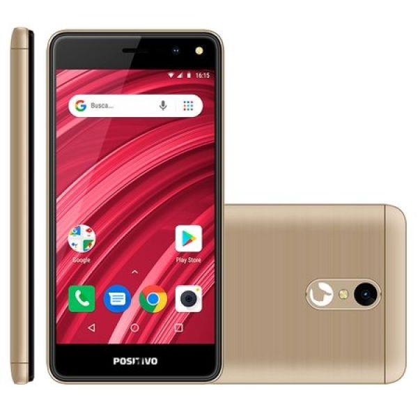 Smartphone Positivo Twist 2 Fit 8GB Tela 5 Câmera 5MP S509 Dourado