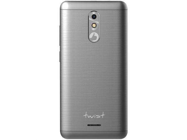 Smartphone Positivo Twist S511 Cinza com 16GB, Tela 5, Android 7.0, Dual Chip, Câmera 8MP, 3G, Wi-Fi, Bluetooth e Processador Quad-Core de 1.2 Ghz