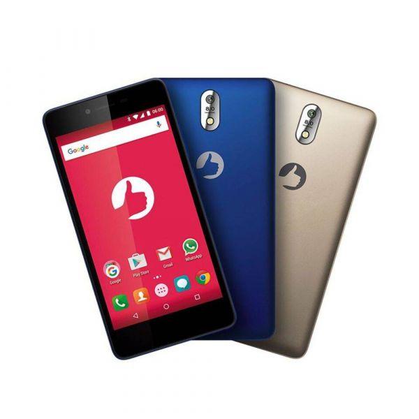 Smartphone Positivo Twist S520 S Dual Azul E Dourado, Câmera 8MP,  Android 6.0, 8GB, Quad-Core.