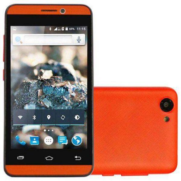 Smartphone Rockcel Quartzo Up 8GB com Dual Chip Tela 4.5 3G Wi-Fi 5MP Vermelho