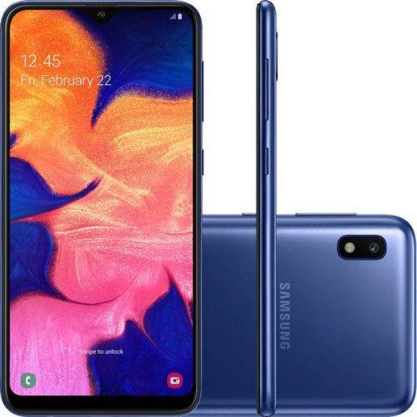 Smartphone Samsung Galaxy A10 32GB Dual Chip Android 9.0 Tela 6.2 Octa-Core 4G Câmera 13MP Azul