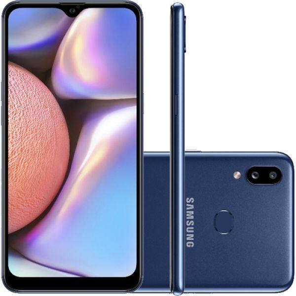 Smartphone Samsung Galaxy A10s 32GB Dual Chip Android 9.0 Tela 6.2 Octa Core 4G Camera 13MP+2MP Azul