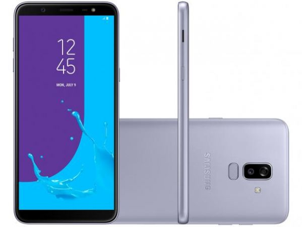 Smartphone Samsung Galaxy J8 64GB Dual Chip Android 8.0 Tela 6 Octa-Core 1.8GHz 4G Câmera 16MP F1.7 + 5MP F1.9 (Dual Cam) Prata