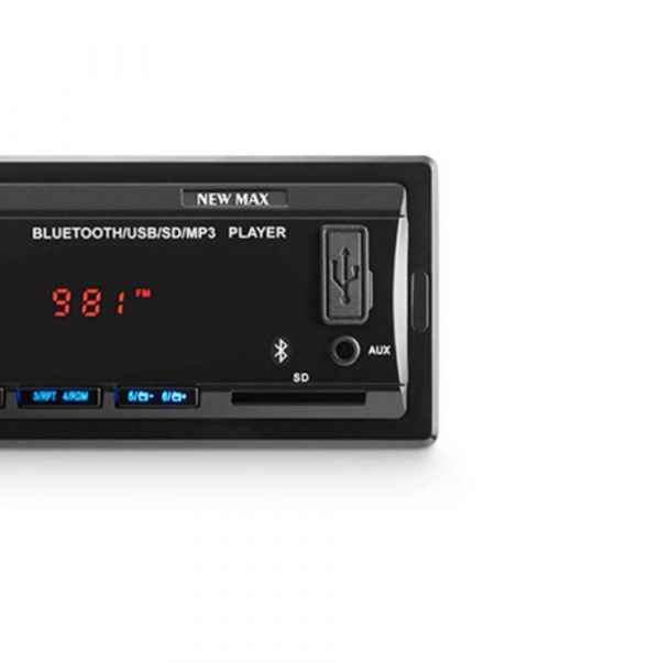 Som Automotivo New Max Rádio Mp3 4x45w Bt Multilaser P3326