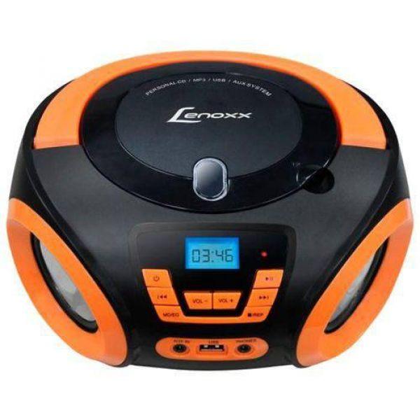 Som Portátil Boombox Lenoxx BD121 PL CD Player Entrada USB Cartão Micro SD Rádio FM e MP3  5W