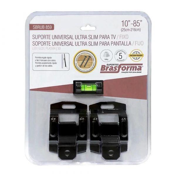 Suporte Fixo Universal Ultra Slim Para Tvs De 10 A 85 Polegadas  SBR859 Brasforma