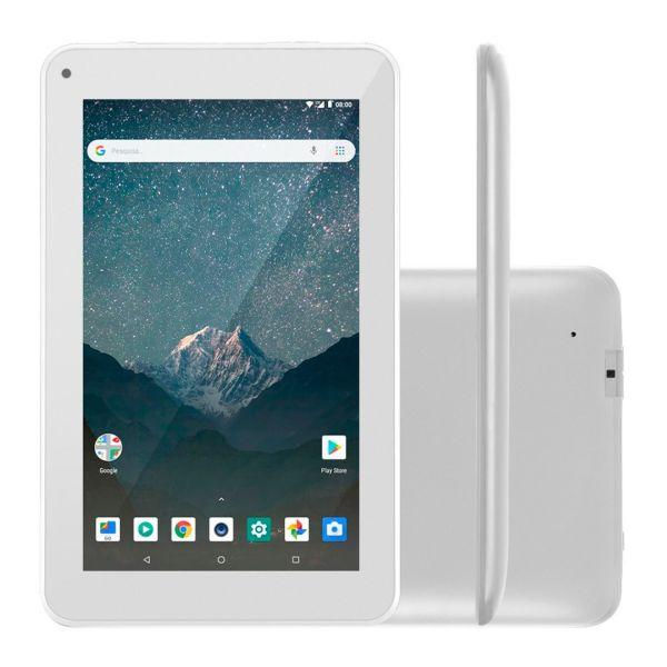 Tablet M7S Lite NB297 Multilaser Quad Core Wi-Fi 1GB Ram 8GB Memória Tela 7 Pol. Android 8.1 Branco Chip Claro Incluso