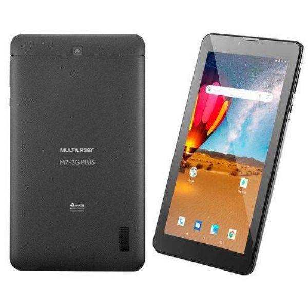 Tablet Multilaser M7 3G Plus NB304 16GB 7 Pol 3G Wi-Fi Android 8.0 Quad Core Câmera Integrada Preto