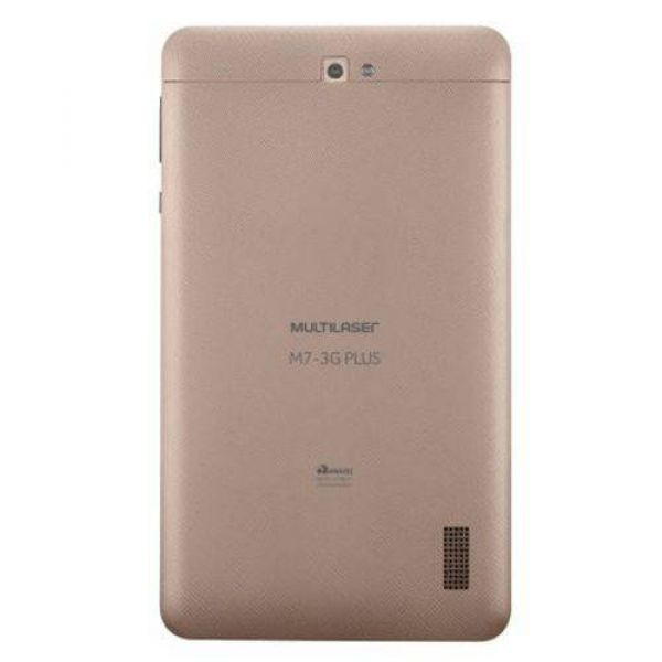 Tablet Multilaser M7 3G Plus Quad Core 1GB RAM Câmera Tela 7 Memória 8GB Dual Chip Dourado - NB272