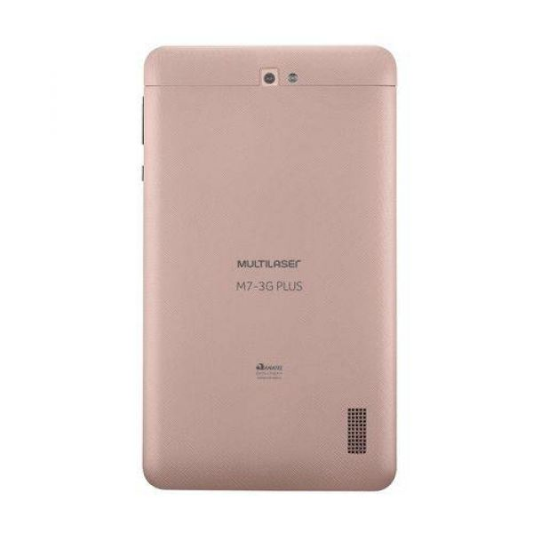 Tablet Multilaser M7 3G Plus Quad Core 1GB RAM Câmera Tela 7 Memória 8GB Dual Chip Rose - NB271