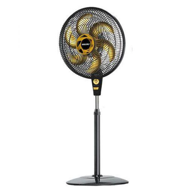 Ventilador de Coluna Mallory Delfos TS 40cm Preto Dourado