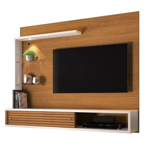 Painel com Bancada Suspensa para TV até 50 Frizz Select Naturale/Off White