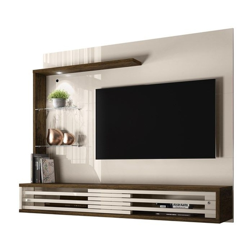 Painel com Bancada Suspensa Madetec para TV até 50 Frizz Select Savana/Off White