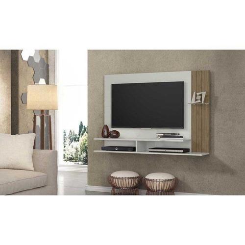 Painel para TV até 43 Linea Brasil Ipe Avela/Off White
