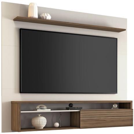 Painel para TV até 60 Polegadas Notável 1 Porta NT1100 Off White/Nogal