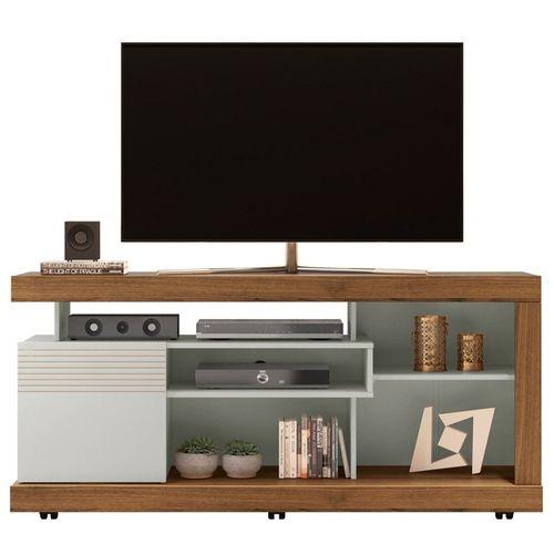 Rack Línea Brasil Gramado para TVs até 60 polegadas Nogueira/Off White
