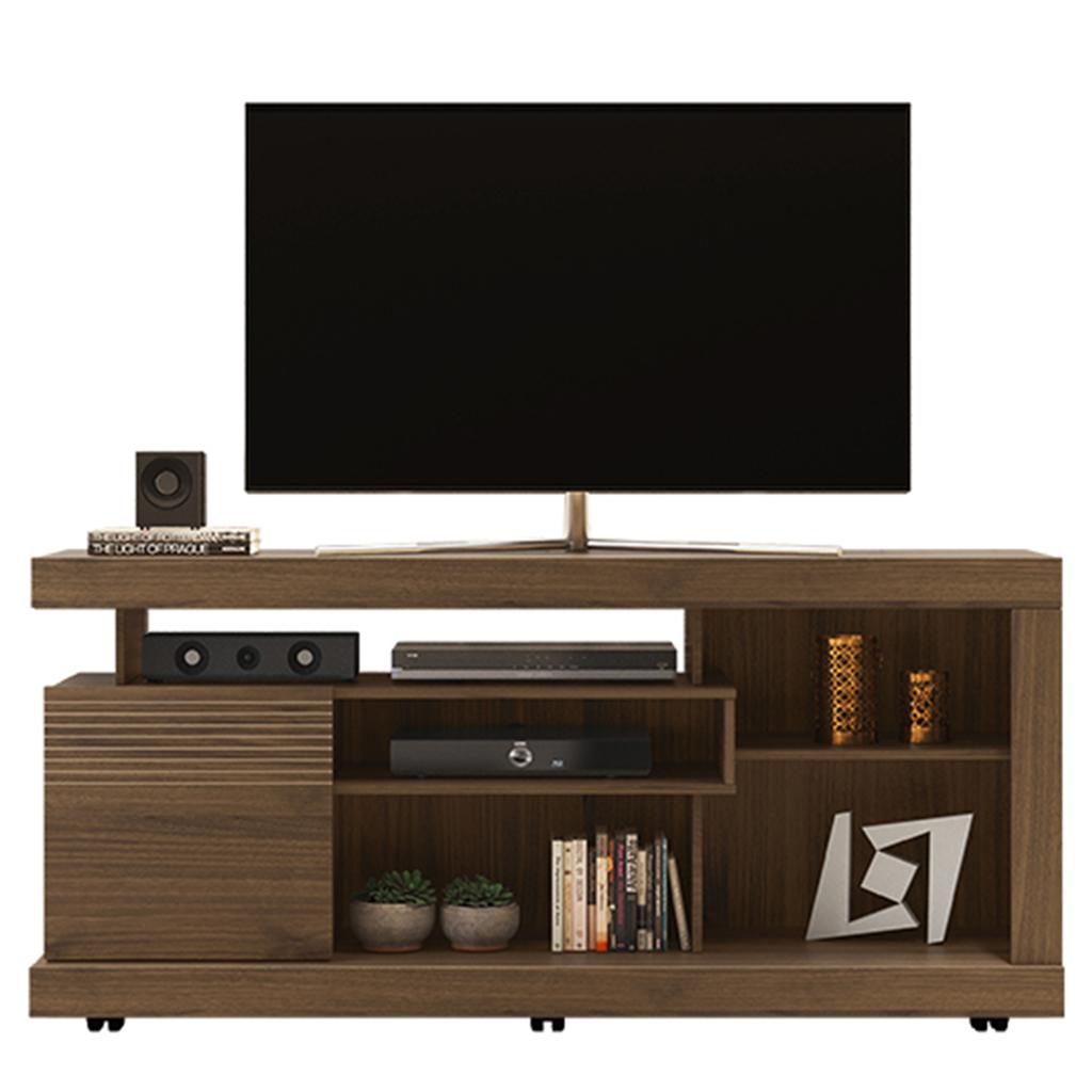 Rack Linea Brasil Gramado para TVs até 60 polegadas Nogueira
