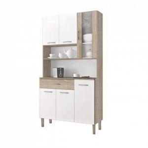 Armário de Cozinha 6 Portas 1 Gaveta Golden Kits Paraná Nogal/White