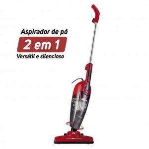 Aspirador de Pó Vertical 2 em 1 WAP Clean Speed 1000W Energia Elétrica 220V WAP Vermelho