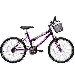 Bicicleta Aro 20 Cairu Star Girl Feminina Lilás