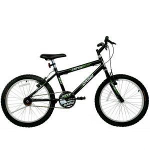 Bicicleta Cairu Super Boy Aro 20 Masculina Preto