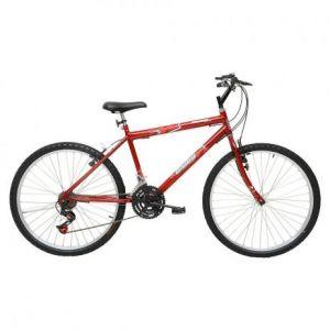 Bicicleta Aro 24 Cairu Flash Bike MTB Masculina 21 Marchas Vermelha