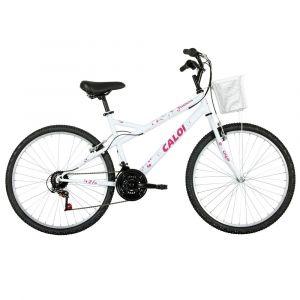 Bicicleta Aro 26 Caloi Ventura com 21 Marchas Branca