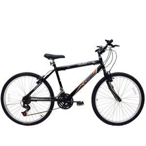 Bicicleta Cairu Flash MTB  Preta Aro 24