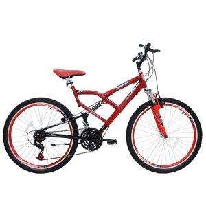 Bicicleta Cairu Jumper Boy Aro 26 Suspensão 21 Marchas Masculina Vermelho
