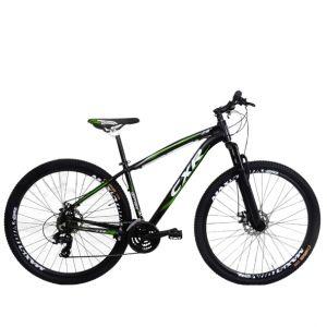 Bicicleta Cairu Mountain Bike Quadro em alumínio e Freios mecânico CXR29 Preto/Verde