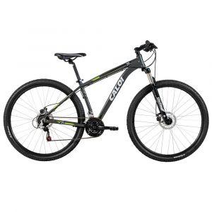 Bicicleta Caloi Aro 29 T17R29V21 Cinza, 21 Marchas, Mountain Bike, Câmbio Shimano, Quadro de alumínio
