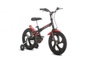 Bicicleta Houston Pix Aro 16 Preto/Vermelho