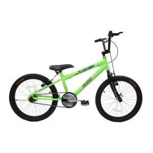 Bicicleta Infantil Aro 20 Cairu Reb Flash Boy MTB Freios V. Break Verde/Neon