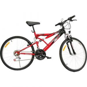 Bicicleta Monark Aro 26 M Bike Plus 21 velocidades Preto Vermelho