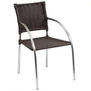 Cadeira de Jardim Alegro C151 Aluminio e Fibra Sintetica Castanho