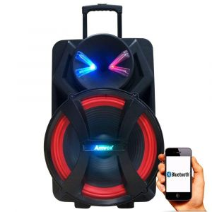 Caixa Amplificada Amvox ACA 900 X Dezoitão 900w Bluetooth Usb