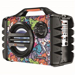 Caixa Amplificada Mondial Multi Connect Thunder VI MCO-06 com Bluetooth, Entrada USB e Rádio FM 120W