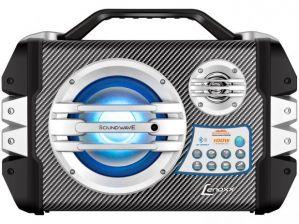 Caixa de Som Amplificadora Lenoxx Sound Wave CA 305 100W Bluetooth Portátil USB Cartão SD