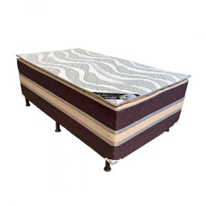 Cama Box Unipocket Conjugada Anatomic Casal Marrom 188x138x54