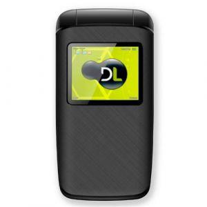 Celular DL YC330 Flip Dual Chip Câmera Digital Rádio FM MP3 Micro SD Bateria de Longa Duração Preto