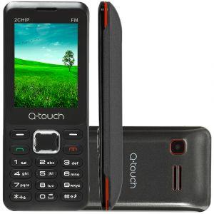 Celular Q-TOUCH JAM Q11 Cinza e Vermelho Tela 2.8