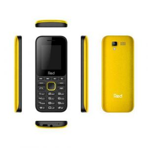 Celular Red Mobile Fit Music Preto/Amarelo M011F