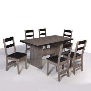Conjunto de Mesa retangular com 6 Cadeiras Arezzo São Carlos Rovere