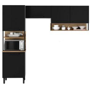 Cozinha Compacta Bali Itatiaia 3 peças Preto/Matte