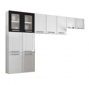 Cozinha Compacta Bertolini Múltipla 11 Portas Branco/Preto