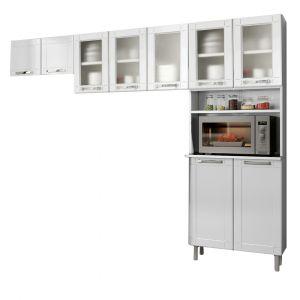 Cozinha Modulada Compacta Bertolini Múltipla em Aço Branco