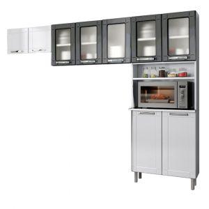 Cozinha Modulada Compacta Bertolini Múltipla em Aço Preta