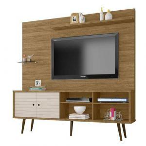 Estante Home Bechara Moveis Taurus Para Tv Até 47 Polegadas 1 Porta Basculante Cinamomo/off-white