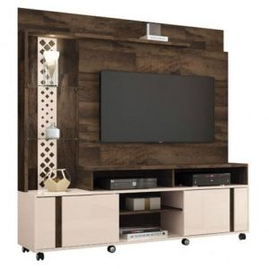 Estante Home Theater HB Moveis Vitral Deck/Off White
