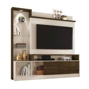 Estante Home Theater para TV até 55 Madetec Frizz Prime Savana/Off White